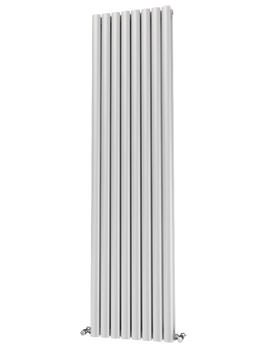 Oliver Eliptical 8 Tube Steel 464 x 1800mm Double Panel Radiator White