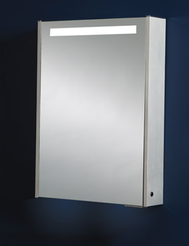 Single Door Aluminium Mirror Cabinet 520 x 700mm - MI031