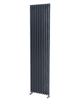 Beo Linda Rounded Rectangular 425 x 1800 Aluminium Radiator Anthracite