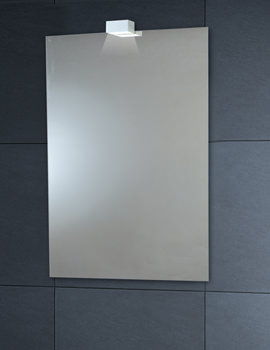 600 x 900mm Down Lighter Mirror With Demister Pad - MI028
