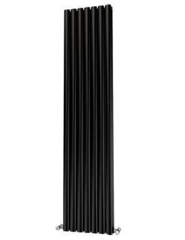 Beo Oliver Eliptical 406 x 1800mm Double Panel Radiator Black