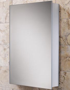 Callisto Slim Line Aluminium Mirrored Cabinet 500 x 700mm
