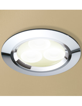 Warm White LED Chrome Showerlight - 5820