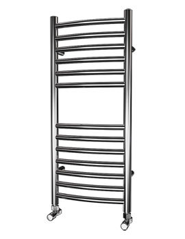 Beo Stainless Steel 350 x 800mm Curved Towel Rail - Curvo 84-35