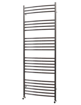 Beo Stainless Steel 600 x 1600mm Curved Towel Rail - Curvo 16-60