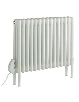 Peta Electric 3 Column Radiator 536 x 592mm White - 10 Section