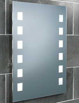 Halifax Fluorescent Back-Lit Bathroom Mirror 500 x 700mm