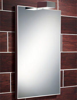 Image of HIB Atessa Low-Energy Bevelled Edge Illuminated Mirror 500 x 700mm