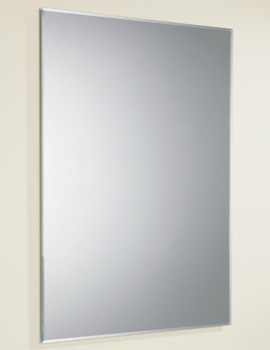 HIB Joshua Rectangular Mirror With Bevelled Edges 500 x 700mm - Image