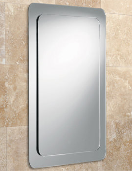Almo Bevelled Mirror On Mirror With Rounded Corners - 63210795