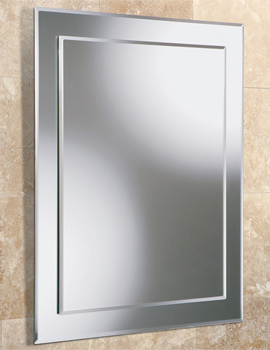 HIB Emma Rectangular Bevelled Mirror On Mirror 400 x 500mm