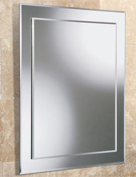 Olivia Rectangular Bevelled Mirror On Mirror 400 x 600mm