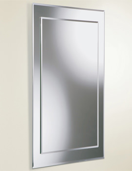 Lucy Rectangular Bevelled Mirror On Mirror 400 x 800mm