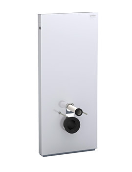 Image of Geberit 114cm High Monolith Sanitary Module For Wall Hung WC - Umbra Glass