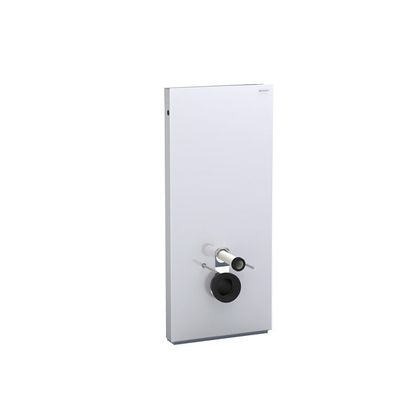 Large Image of Geberit 114cm High Monolith Sanitary Module For Wall Hung WC - Umbra Glass