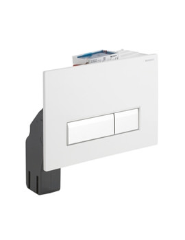 Geberit Sigma40 White Glass Dual Flush Plate With Odour Extraction