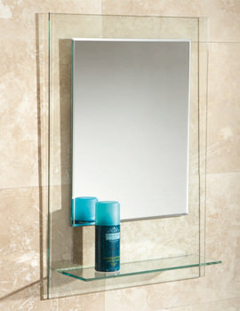 Fuzion Bevelled Edge Mirror With Glass Shelf - 72300100