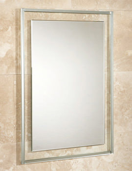 Georgia Bevelled Edge Mirror On Clear Glass Frame 500 x 700mm