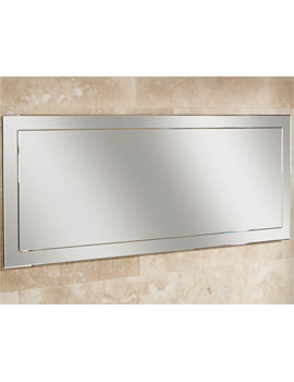 HIB Isis Landscape Mirror On Mirror With Bevelled Edges 1200 x 500mm