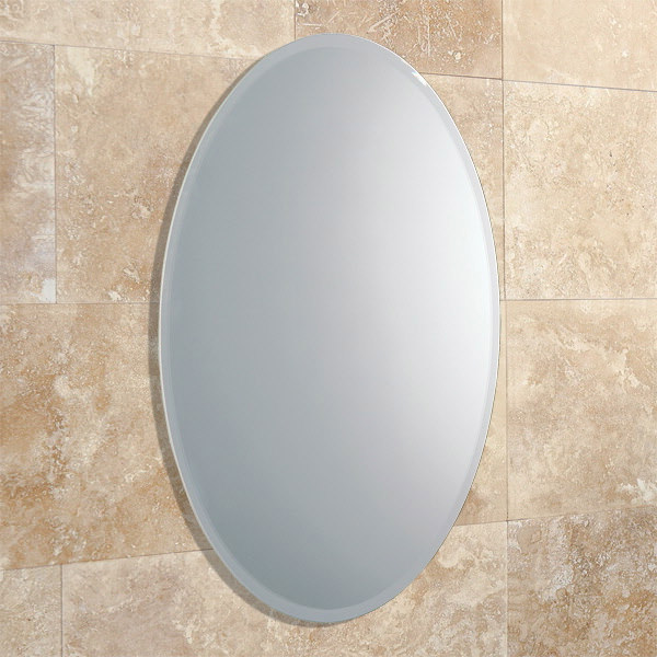 Wonderful HiB Alfera Oval Shaped Bathroom Mirror  HiB Oval Mirror  Mirrors