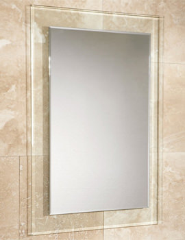 Lola Bevelled Edge Mirror With Clear Glass Frame 500 x 700mm