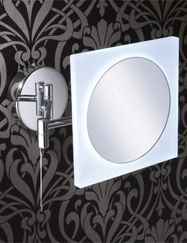 Hib Libra Led Illuminated Magnifying Mirror 21400