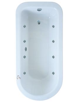 Related Adamsez Hampton Single Ended 1680 x 800mm 8 Jets Whirlpool Inset Bath