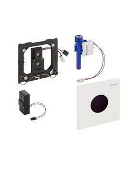 Sigma01 Battery Operated Sensor Urinal Flush Control White Alpine