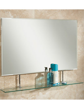 HIB Sati Landscape Bevelled Mirror With Glass Shelf - 77264000