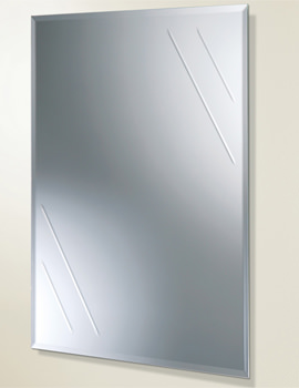 Albina Rectangular Bevelled Edge Bathroom Mirror - 61164100