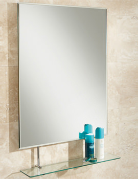 Tapio Portrait Bevelled Mirror With Glass Shelf - 77275000