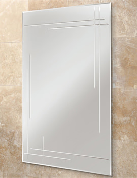 Opus Rectangular Bevelled Edge Bathroom Mirror 500 x 700mm