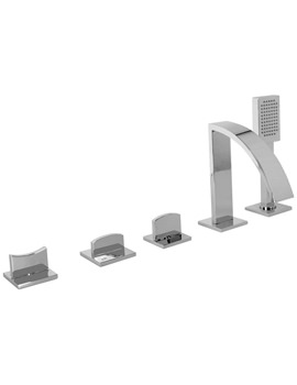 Noken Imagine 5 Hole Deck Mounted Bath Tap With Handset