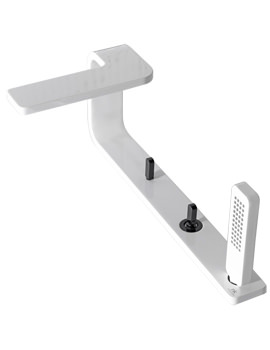 Noken Lounge 4 Hole Deck Mounted White Bath Tap With Handset
