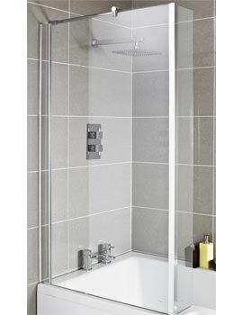 Lauren Quattro Square Shower Centrally Hinged 1400mm Bath Screen