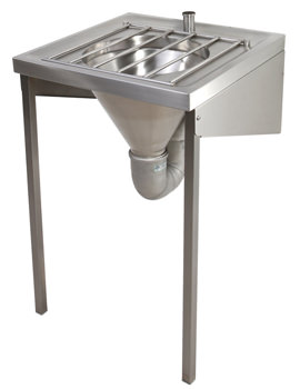 Twyford SS Wall Mounted Disposal Hopper With Grating - Top Inlet