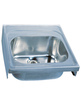 Stainless Steel 600 x 600mm Single Bowl Hospital Sink