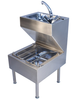 Stainless Steel 500 x 880mm Janitorial Unit - PS8801SS