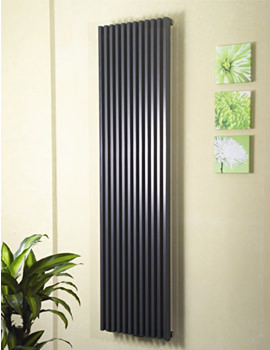Bassano Vertical Single 465 x 1800mm Designer Radiator White