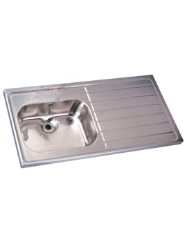 Stainless Steel 1200 X 600mm Single Sink And Single Drainer
