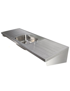 SS 1800 X 600mm Single Centre Bowl Sink And Double Drainer