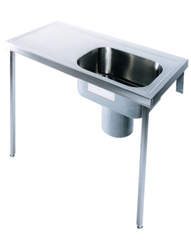 Image of Twyford Stainless Steel 1200 x 600mm Plaster Sink And Worktop