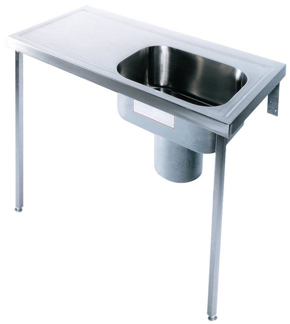 Large Image of Twyford Stainless Steel 1200 x 600mm Plaster Sink And Worktop