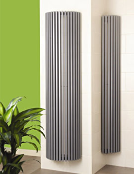 Apollo Bassano Vertical Half Round White Radiator 395 x 1800mm