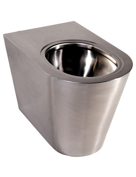 Twyford Stainless Steel Floor Standing Back-To-Wall WC Pan 580mm