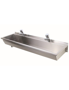Related Twyford SS 1800 x 370mm 3 Person Stainless Steel Wash Trough