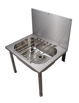 Stainless Steel 648 x 508mm Floor Mounted Bucket Sink