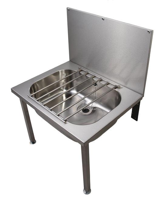 Twyford stainless steeel 648 x 508mm floor mounted bucket sink for Metal bucket sink