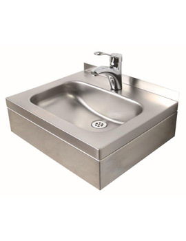 Stainless Steel 508 x 420mm 1 Tap Hole Wall Hung Basin With Apron
