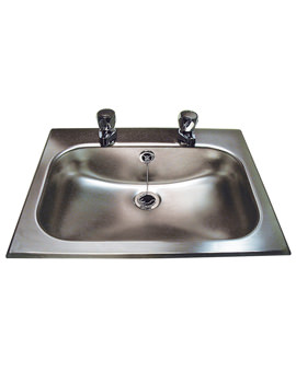 Stainless Steel 406 x 260mm Inset Bowl With Overflow